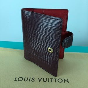 Louis Vuitton 3 cardholders burgundy & red